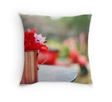 All Red (Vespa 50s) Throw Pillow