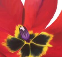 Single Deep Red Tulip  Sticker