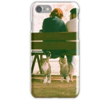 Ok human, just do exactly as i'm doing. Look at her...(analogue) iPhone Case/Skin