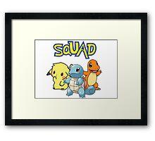 Pokemon - Squad Framed Print