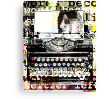 Words become flat like seltzer left for stale air Canvas Print