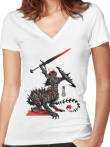 The Game of Kings, Wave Two: The Black King's Knight Women's Fitted V-Neck T-Shirt