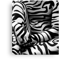 Zebra Print Detail Canvas Print