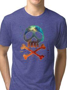 Space Pirate, Skull, Crossbones, Captain, Bone, Anime, Comic Tri-blend T-Shirt