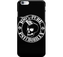 Pure Psychobilly - White Stamp iPhone Case/Skin