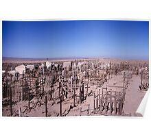 Atacama graveyard Poster