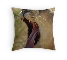 Yawn! Throw Pillow