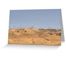 California wind farm Greeting Card