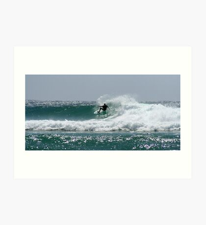 Snapper Rocks Sufer Art Print
