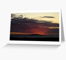Sunset over park Greeting Card