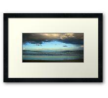Window to the ocean Framed Print