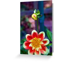 Dahlia with a hitchhiker Greeting Card