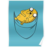 Pocket Jake the dog. Adventure time Poster