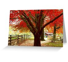 #68  Homestead In Autumn Greeting Card