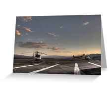 Boulder City Helicopters Greeting Card