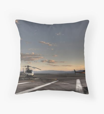 Boulder City Helicopters Throw Pillow
