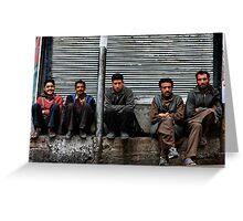 kashmiri boys. north india Greeting Card