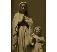 Mary and Jesus Photographic Print