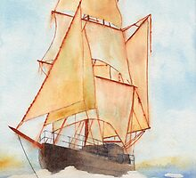 Tall Ship by Ken Powers