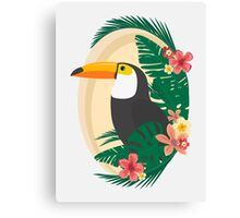 Tropical Jungle Toucan Canvas Print