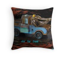 Old Toy Truck Throw Pillow