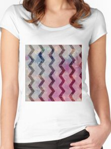 pattern background Women's Fitted Scoop T-Shirt