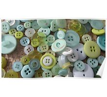 Button Green One Poster