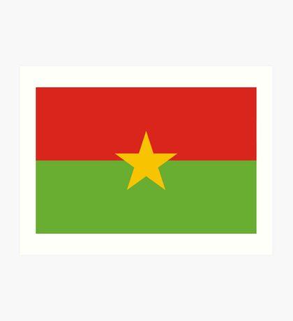 Burkina, national id Art Print