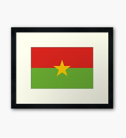 Burkina, national id Framed Print