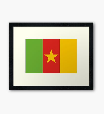 Cameroon, national id Framed Print