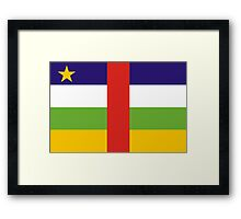 Central-African-Republic, national id Framed Print