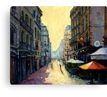 L'escargot on Rue Montorgueil,  Paris,  France - with border Canvas Print