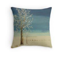 First Snow - Fosston, Minnesota Throw Pillow
