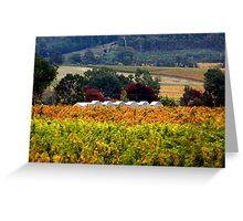 Autumn Claret Greeting Card