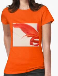 Softly Red Canna Lily Womens Fitted T-Shirt