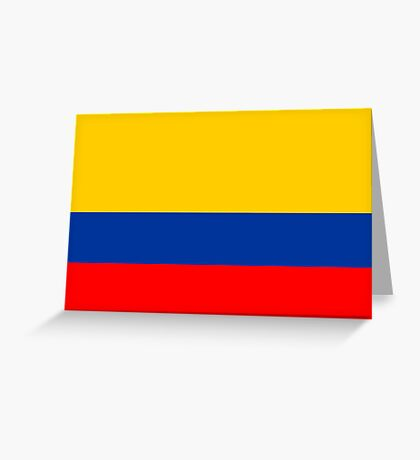 Colombia, national id Greeting Card