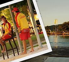 Men at Work - Cairns Esplanade Lagoon by Caroline Angell