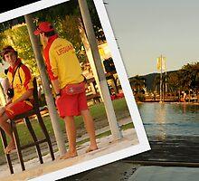 Men at Work - Cairns Esplanade Lagoon by Caroline Angell