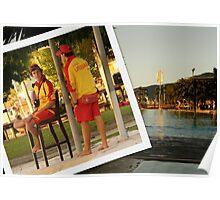 Men at Work - Cairns Esplanade Lagoon Poster