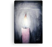 Candle in the Dark Canvas Print