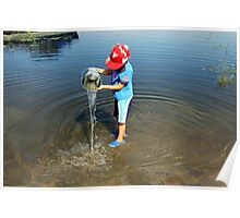 Best Fun Ever - Child Playing In Water Poster