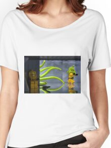 Bravely hiding from the Lego monster Women's Relaxed Fit T-Shirt