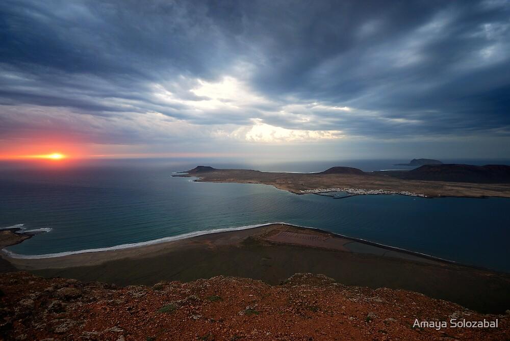 Lanzarote at dusk by Amaya Solozabal