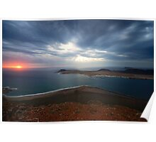 Lanzarote at dusk Poster