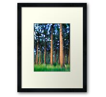 ~ the blue confetti forest ~ Framed Print