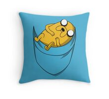 Pocket Jake the dog. Adventure time Throw Pillow