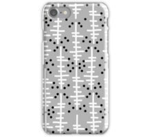Helo - modern pattern design gift for college dorm decor trendy monochromatic grey neutral bold iPhone Case/Skin