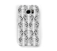 Helo - modern pattern design gift for college dorm decor trendy monochromatic grey neutral bold Samsung Galaxy Case/Skin