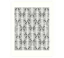 Helo - modern pattern design gift for college dorm decor trendy monochromatic grey neutral bold Art Print