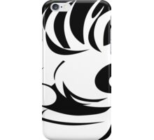 Awesome Crazy Face (White) iPhone Case/Skin